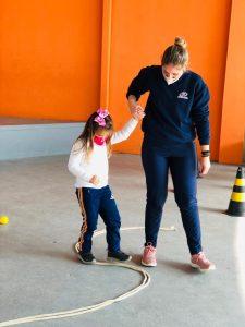 Thaise Batista Vandressen está cursando educação física